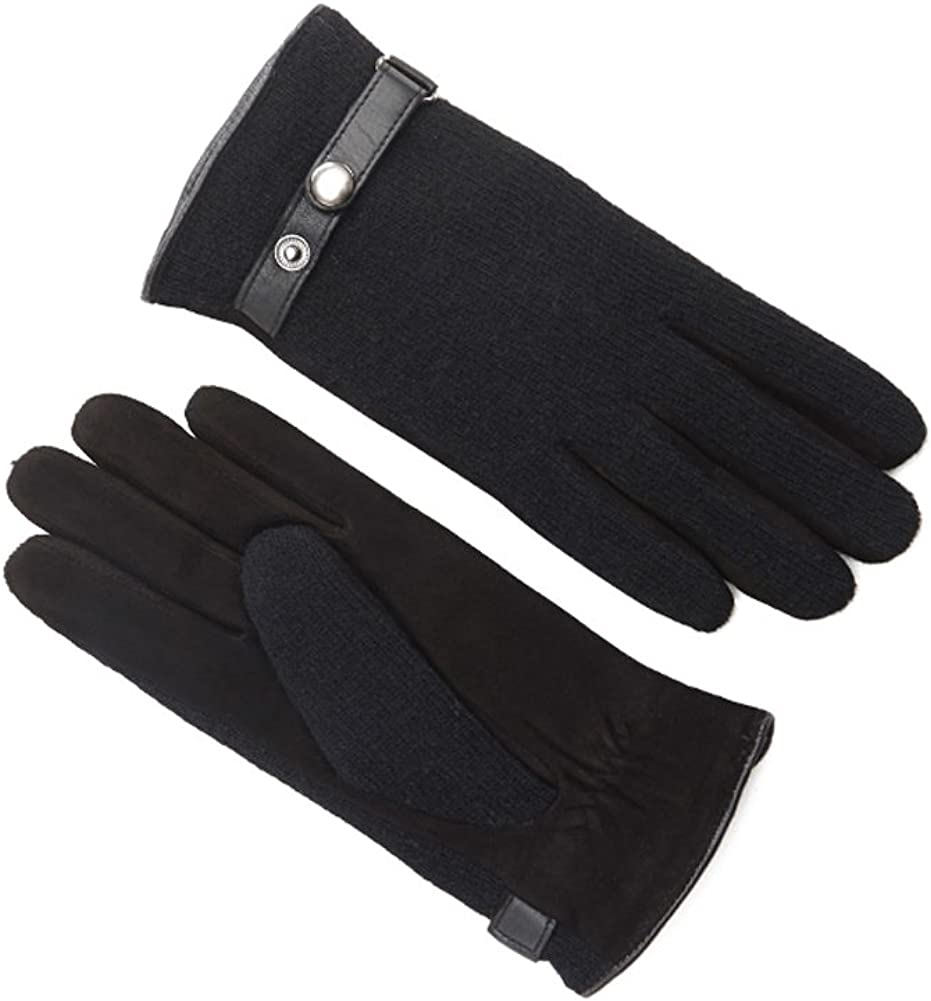 MINGXIN womens knit cashmere plush gloves winter warm outdoors bicycle driving