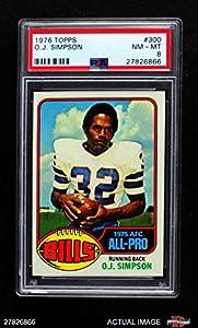 1976 Topps # 300 O.J. Simpson Bills (Football Card) PSA 8 - NM/MT Bills