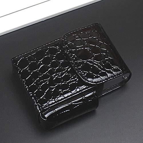 NACHEN Leder Zigarettenetui Portable Gürteltasche Herren Tabak Box Kann An Der Taille Platziert Werden Kann Mit Ganzen Paket Von Zigaretten Geladen Werden,Black1,11.2X8X4CM