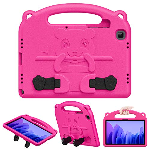 MoKo Case Compatible with Galaxy Tab A7 10.4' 2020, Heavy Duty EVA Foam Kids-Friendly Cover with Hand-grip & Stand Fit Samsung Galaxy Tab A7 10.4 Inch 2020 Model (SM-T500/505/507), Magenta