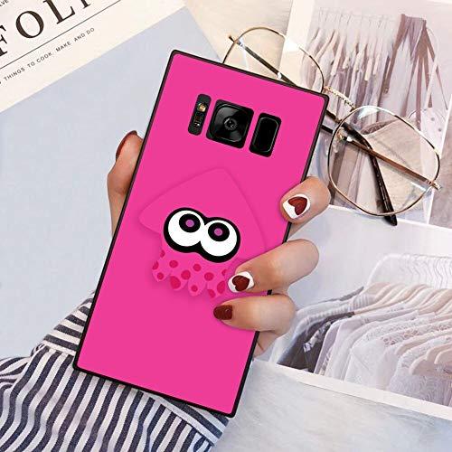 Phone Case Compatible Samsung Galaxy S8 (2017) [5.8 Version] Squid Splatoon Pink