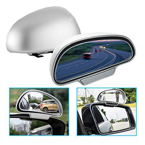 K38 TOP KFZ Auto toter Winkel Spiegel Außenspiegel Blindspiegel Fahrschulspiegel, erleichtert das Rückwertsfahren und Einparken (Silber Rechts)