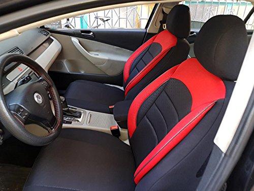 Sitzbezüge k-maniac für Audi A8 D2 | Universal schwarz-rot | Autositzbezüge Set Komplett | Autozubehör Innenraum | NO2520442 | Kfz Tuning | Sitzbezug | Sitzschoner