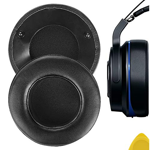 Geekria QuickFit Protein Leather Almohadillas para Razer Thresher Ultimate Dolby 7.1 Surround Sound Gaming Auriculares Reemplazo de Almohadillas, Piezas de reparación Auricular(Negro)