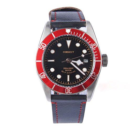 Corgeut, orologio analogico da uomo con vetro zaffiro, movimento...