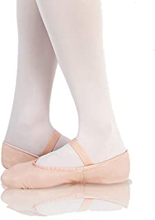 Body Wrappers Womens Tiler Full Sole Leather Pleated Ballet Slipper (201A)