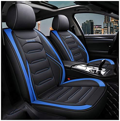 Fundas Asientos Coche Pu Cuero Car Seat Cover Para CR-V 2015-2019 Universal Cubreasientos Completo Funda Asiento Para Delantero Trasero 5-Asientos Conjunto Accesorios Coches Interior Decoracion,Azul