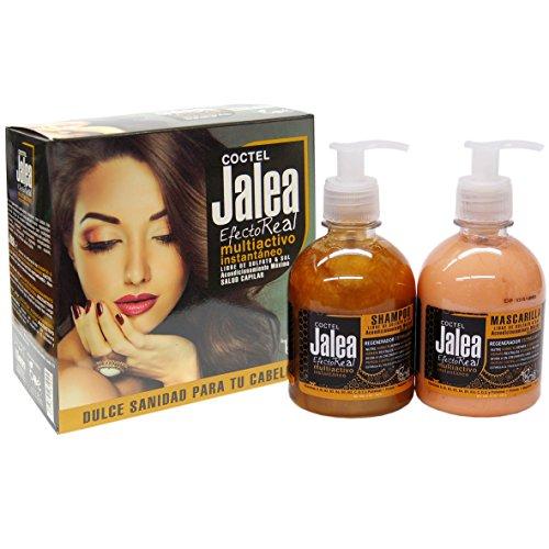 Coctel Jalea Efecto Real de Boe. Set de Champú sin sulfatos de 315ml y mascarilla sin sulfatos de 285g. Jalea real para el cabello, sin parabenos con seda hidrolizada, vitaminas y minerales