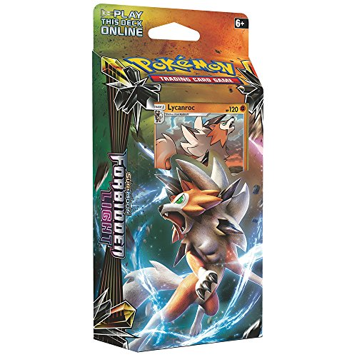Pokemon TCG: Sun & Moon Forbidden Light Lycanroc Theme Deck | Collectible Trading Card Set | 60 Card Deck with Ultra Rare Holographic Foil Lycanroc, Damage Counters, Metallic Coin, Online Code Card