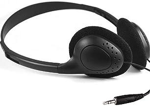 Kids Headphones Bulk 10 Pack for School Students Children Teen Boys Girls, HONGZAN Wholesale Disposable Headphones Classroom Earphones(Black)