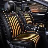 MKJYDM Funda de asiento de coche de tela de cuero cuatro estaciones almohadilla Airbag asiento protector protector delantero y trasero asiento 5 asiento conjunto completo de universal Cubierta de asie