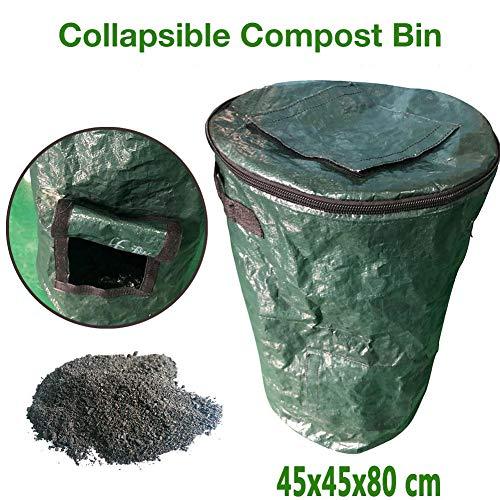 Affordable CHERRYSONG Garden Bag,Collapsible Container Gardening Bag,Garden Waste Bag, Canvas Garden...