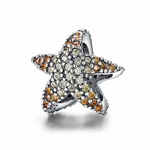 Missy Jewels, Estrella de Mar Charm Plata de Ley 925 100% para Pulseras para Charms Tipo Pandora, Chamilia, Biagi, Swarovski.