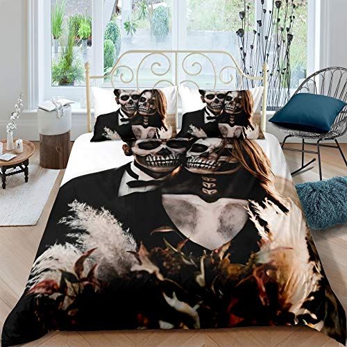 MMHJS 3-Teiliges Mikrofaserset Bettbezug Kissenbezug Bettwäsche Geeignet Für Schlafzimmer, Hochzeitszimmer, Studentenwohnheim