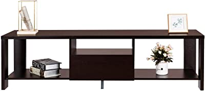Amazon.com: Kings Brand Walnut Finish Wood Corner TV Stand ...