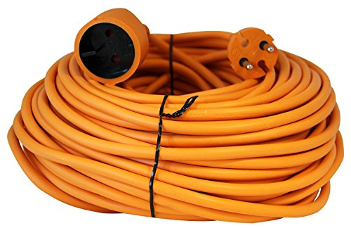 Voltman VOM530455 - Cable eléctrico alargador jardin, 25 m