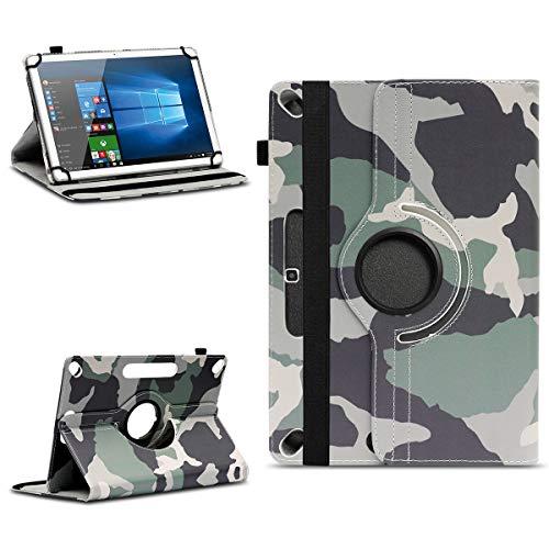 NAmobile Tablet Tasche kompatibel für Wortmann Terra PAD 1005 Hülle hochwertiges Kunstleder mit Standfunktion 360° Drehbar Universal 10.1 Zoll Cover, Farben:Motiv 11