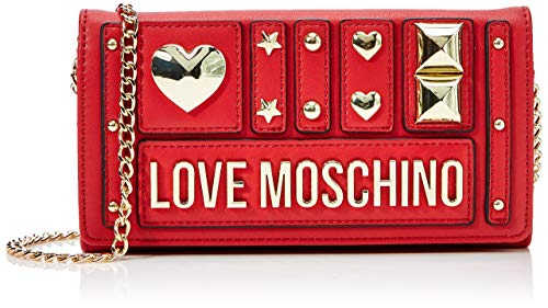 Love Moschino Damen Portafogli Pu Geldbörse, Rot (Rosso), 3x11x20 centimeters
