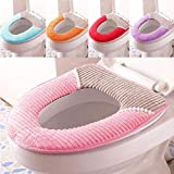 SEMITO Toilet Lid Soft & Flannel Toilet Lid & Toilet Seat Cushion Toilet
