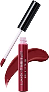Lakme Forever Matte Liquid Lip Colour, Crimson Rose, 5.6 ml