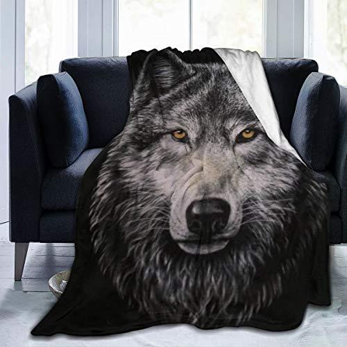 NA Nieuwe superzachte microfleece deken wolf kinderen en volwassenen warmen super zachte comfortabele luxe dubbele fleece zachte pluizige flanellen deken