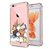 Cat iPhone 6 Plus 6S Plus Case Clear Cute Funny Kitten Design for Girls Boys Kids Bumper Protective Cover for Apple iPhone 6 6S Plus Flexible Soft Gel Slim fit Rubber Silicone Shockproof Phone Cases