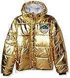 Champion Men's Puffer, Metallic/Gold, Large