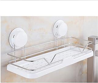 Anti-corrosion en acier inoxydable Douche Compact Caddy bain avec étagère forte Ventouse Rectangle Panier de rangement for...