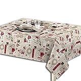 Centesimo Web Shop TOVAGLIA Cucina Cotone in 4 Misure con TOVAGLIOLI Tirolese Rosso Beige 6 12 16 POSTI 688-140x180 cm Rosso