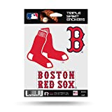 Rico MLB Red Sox Triple Spirit Stickers, Multi (MSS3901), One Size