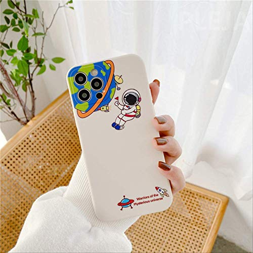 Carcasa teléfono Astronauta Dibujos Animados para iPhone 12 Mini 11 Pro MAX 7 8 Plus SE 2020 X XR XS MAX Contraportada Fundas Silicona Lindas Moda para-iphone11Pro CW243-1