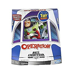 FUN WITH BUZZ LIGHTYEAR: It's classic Operation gameplay featuring Disney/Pixar Toy Story's beloved Buzz Lightyear