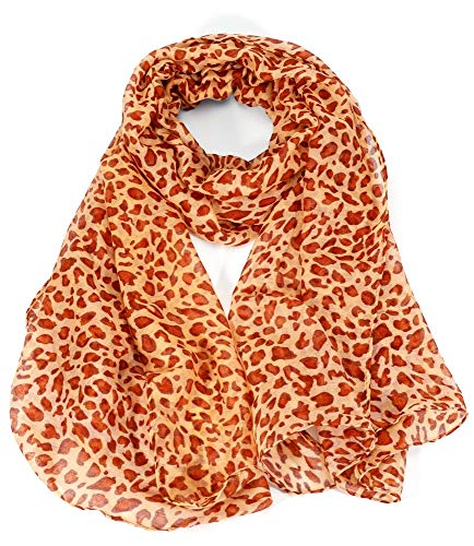 Dielay dames sjaal met luipaardpatroon - Panther - Polyester - 180x95 cm
