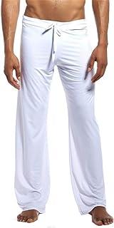 Gocgt Mens Comfy Jersey Cotton Knit Pajama Lounge Sleep Pants Trousers