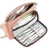 JIEHED - Bolsa de Almacenamiento para bolígrafos de Gran Capacidad, de Lona, para la Escuela y la Oficina