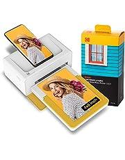 Kodak PD460 Dock Plus, Impresora Fotográfica 10X15Cm, con 10 Hojas para Fotos, Impresora Bluetooth, Cable USB-C Y Lightning, Impresora para Móvil Portátil Smartphone, iOS Y Android