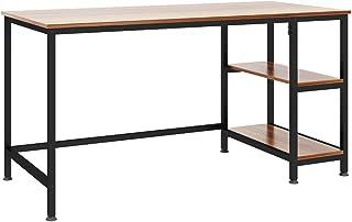Dripex Table Informatique, Bureau d'Ordinateur avec 2 Étagères, Poste de Travail PC et Ordinateur Portable pour Bureau et ...
