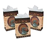 6 Large Thanksgiving Turkey Gift Bags Goodie Bags