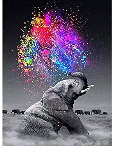DFHGDX Puzzle interessanteCollezione di Puzzle 1000 Pezzi- Puzzle in Legno per Adulti -Modello di Arte del Cielo Elefante -Rompicapo per Adulti e Bambini