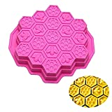 ESA Supplies 19 Cavities Honeycomb Cake Molds Silicone Soap Making Molds Pull-Apart Dessert Pan...