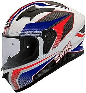 SMK Helmets - Stellar - Dynamo - White Blue Red - Pinlock Anti Fog Lens Fitted Single Clear Visor Full Face Helmet - GL153 (Large - 590 MM)