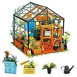 Rolife Miniatur DIY Puppenhaus Küche Kits mit Licht DIY Holz Mini Haus Modell Erwachsene-Kinder 14...