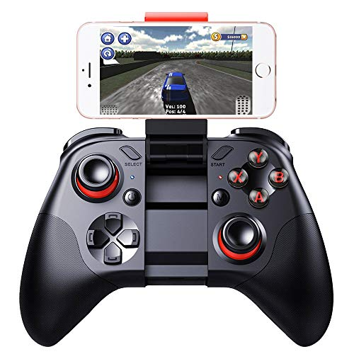 QYGGG Gamepad Tragbare MOCUTE-054 Bluetooth Wireless Game-Controller Joystick Spiel mit Telefonclip, for Android/iOS-Geräte/PC