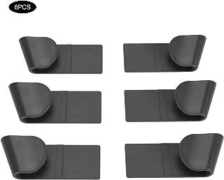 6Pcs ABS Autoadhesivo Soporte de tapa de maceta Puerta de pared Montado en maceta Tapa Rack Olla Olla Utensilio Rack Tapa Utensilios de cocina