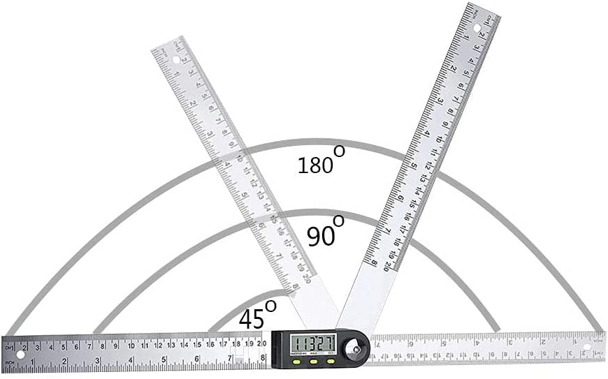 Isesuch Digital Angle Rare Finder Great interest Ruler Steel Stainless Prot 0-200mm