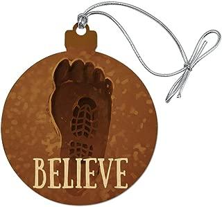 GRAPHICS & MORE Bigfoot Sasquatch Believe Foot Print Wood Christmas Tree Holiday Ornament