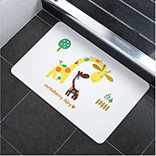 Large Super Dry Diatom Bathroom Bath Mats Anti-Slip Foot Shower Bathroom Bedroom Floor Pad Mat Rugs 60x39cm AU Present (Ki...