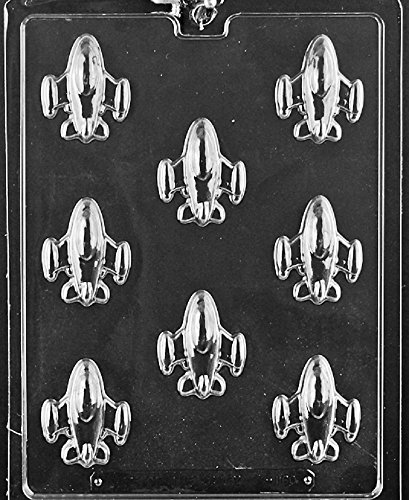 Grandmama's Goodies K160 Bite Size Rockets Spaceships Chocolate Candy Soap Mold with Exclusive Molding Instructions