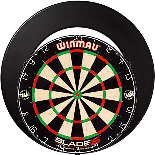 Winmau Blade 5 + Dartboard Surround Schwarz