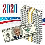 NINOSTAR Pack of 100- Donald Trump 2020 Dollar Bill - Keep America Great! - Play Money, Prop Money, Great for Money Gun